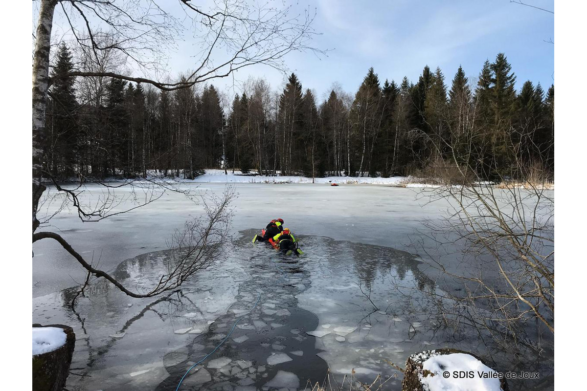 Exercice sauvetage du lac